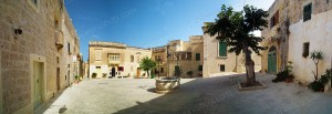 A serene square in the city of Mdina