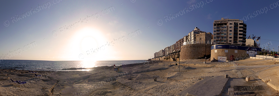 Sunrise over it-Torri in Sliema