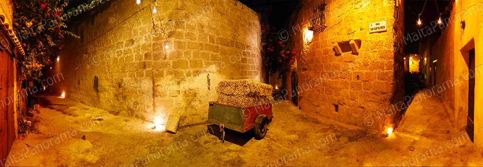Tarxien Alleys At Night