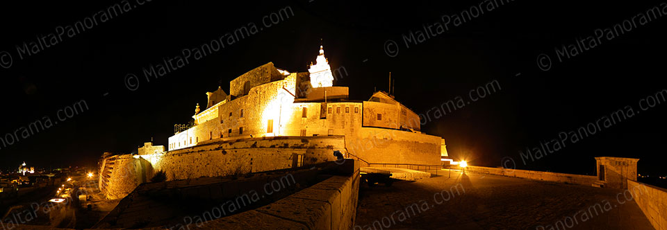 Cittadella Bastions By Night - Victoria Gozo