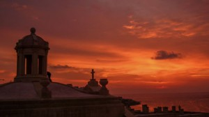 Sunrise over the chapel - Fort Manoel