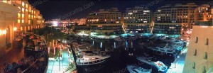 Portomaso Marina at night