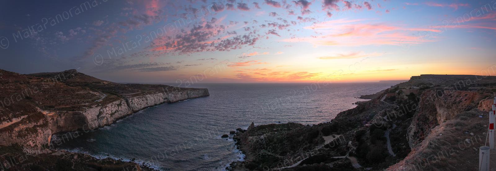 Sunset at Fomm Ir-Rih Bay