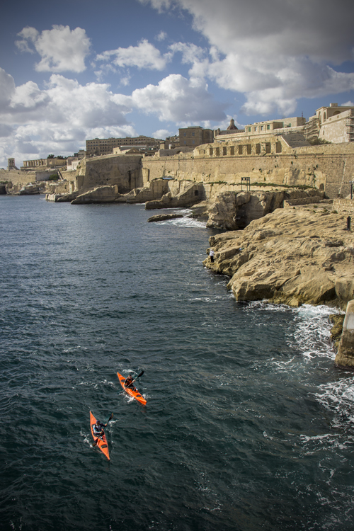Canoeing in Valletta