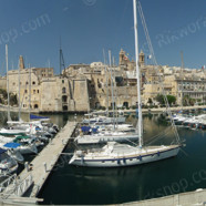 Birgu – Yacht Marina with Senglea in the background (Ref: pfm110005)