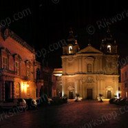 Mdina Church Square by Night (Ref: pfm110010)