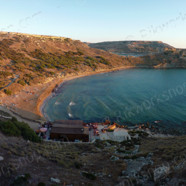 Ghajn Tuffieha Bay at Sunset (Ref: pfm110047)