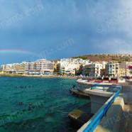 Rainbow over Marsalforn Gozo (Ref: pfm110131)